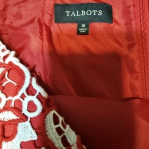 Talbots Skirts - Talbots sz 16 red and white embroidered skirt